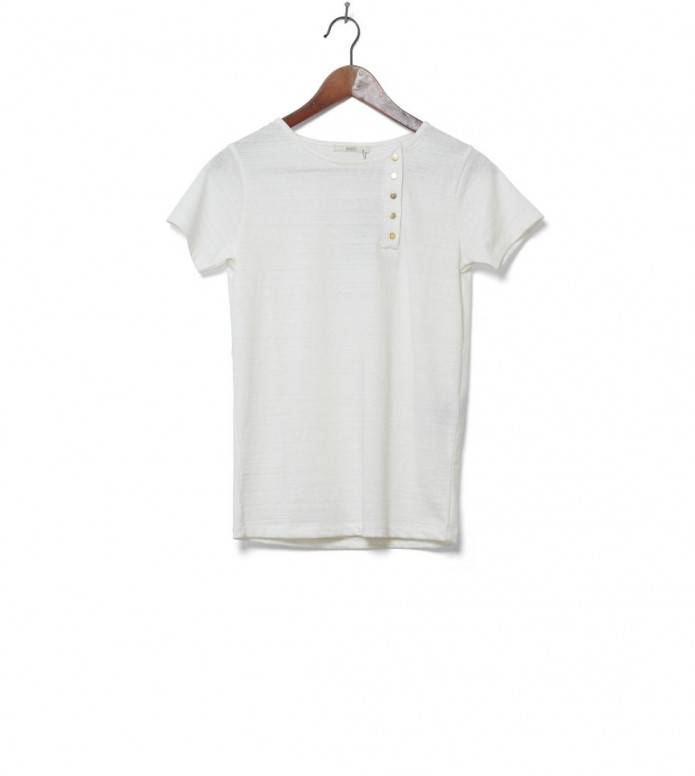 Sessun W T-Shirt Yomejima white fleur de sel XS