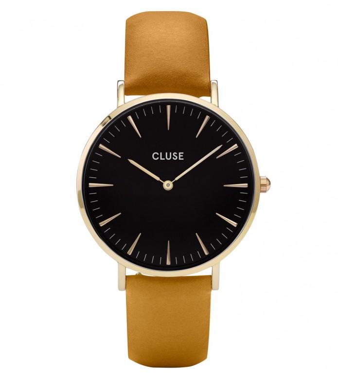 Cluse Cluse Watch La Boheme yellow mustard/black gold