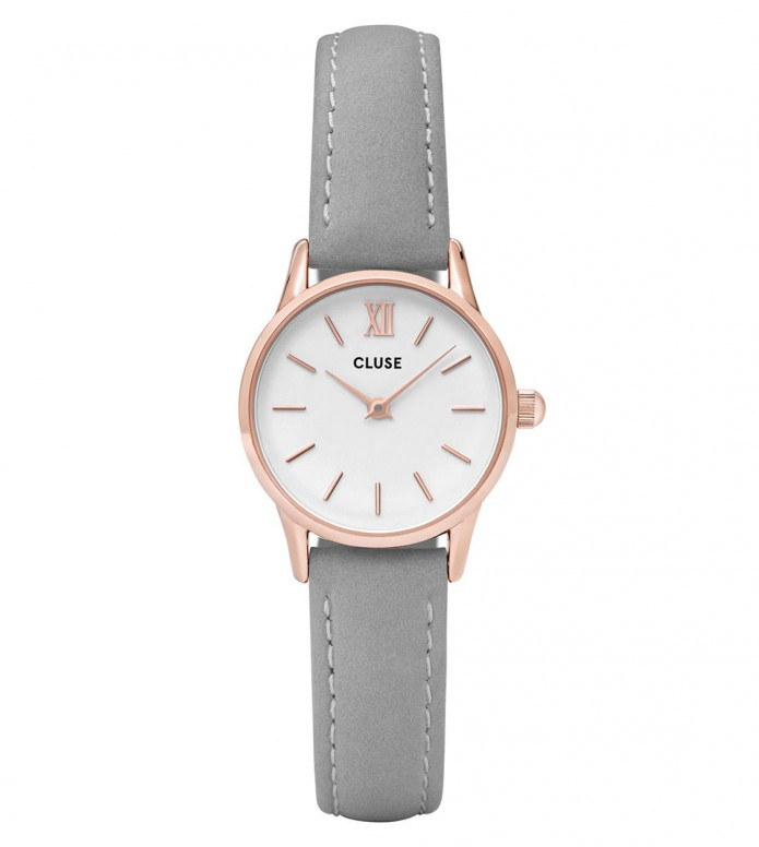 Cluse Cluse Watch La Vedette grey/white rosegold