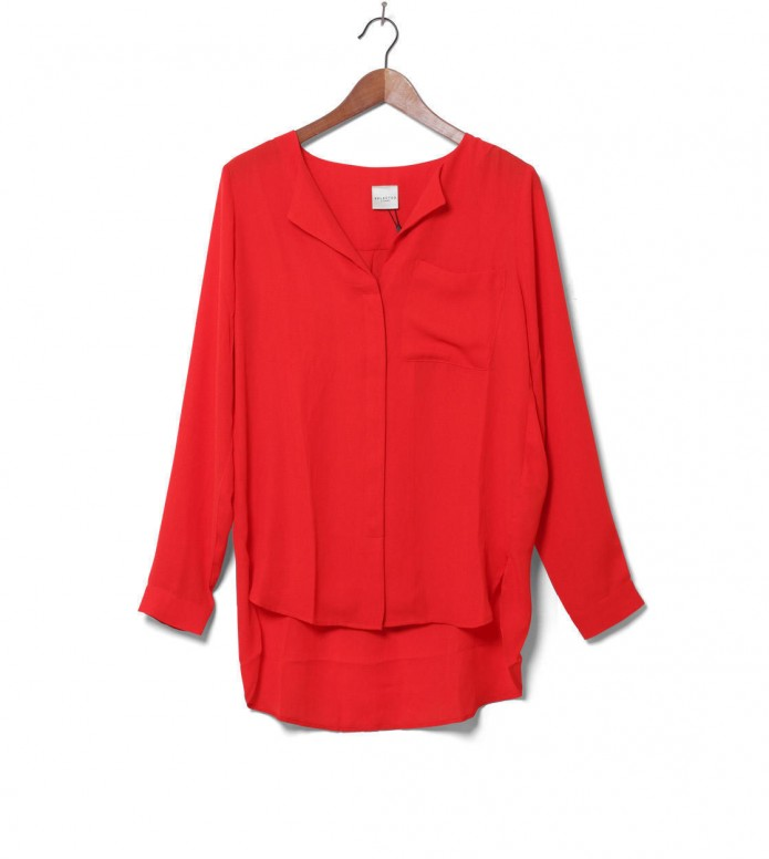 Selected Femme Shirt Sfdynella red flame scarlet XS