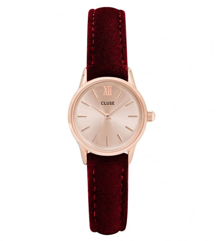 Cluse Cluse Watch La Vedette red velvet/rosegold