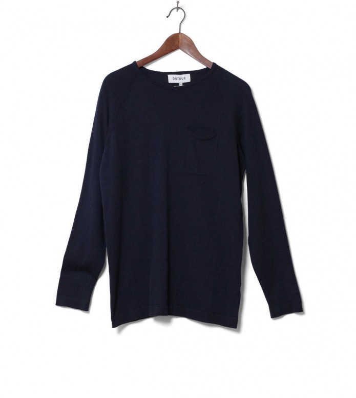 Ontour Knit Pullover Port blue navy L