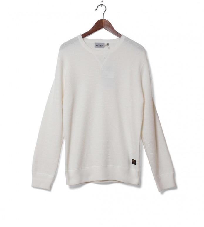 Carhartt WIP Knit Pullover Mason white wax L