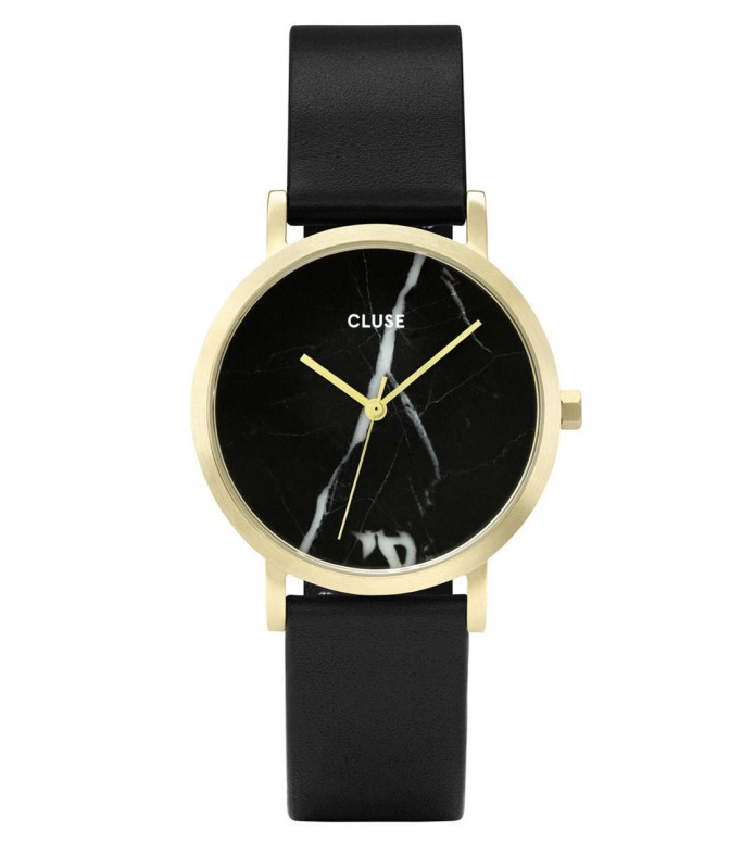 Cluse Cluse Watch La Roche Petite black/black marble gold