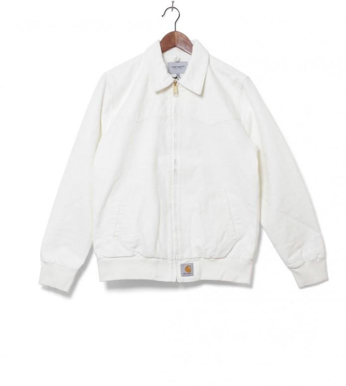 Carhartt WIP Jacket Santa Fe white wax rinsed L