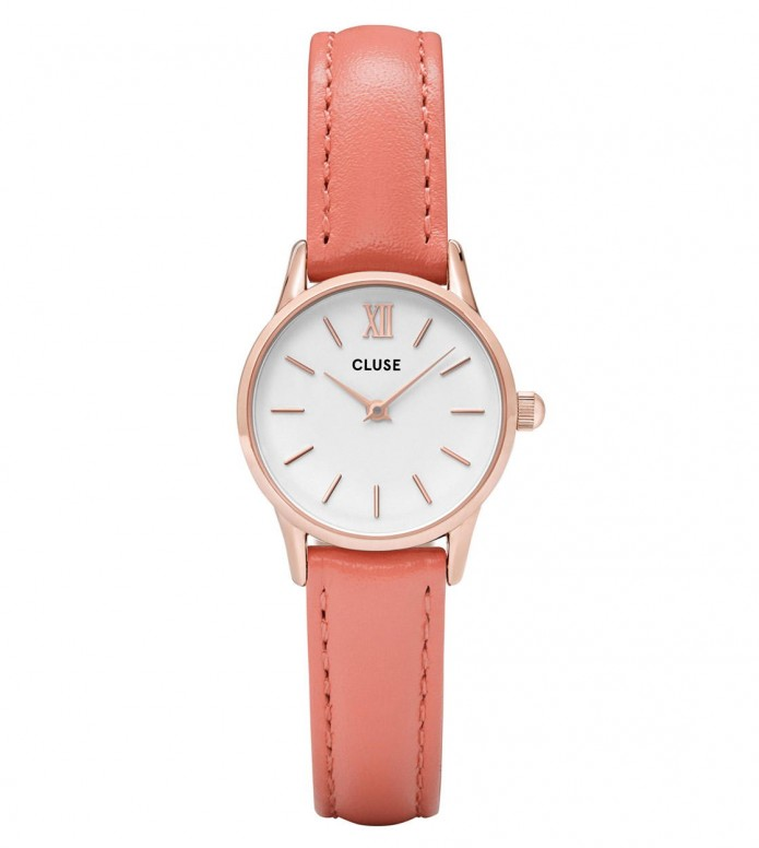 Cluse Cluse Watch La Vedette orange flamigo/white rosegold
