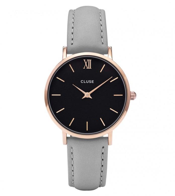 Cluse Cluse Watch Minuit grey/black rose gold