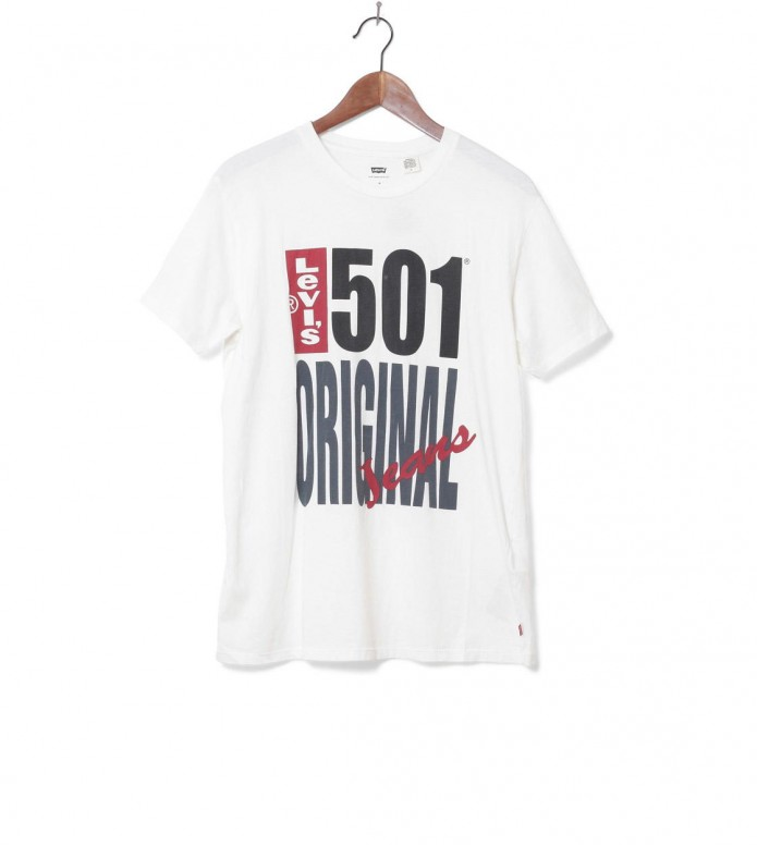 Levis Levis T-Shirt Graphic 501 white original