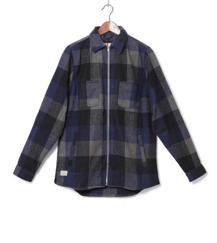 Revolution Jacket Shirt Check blue