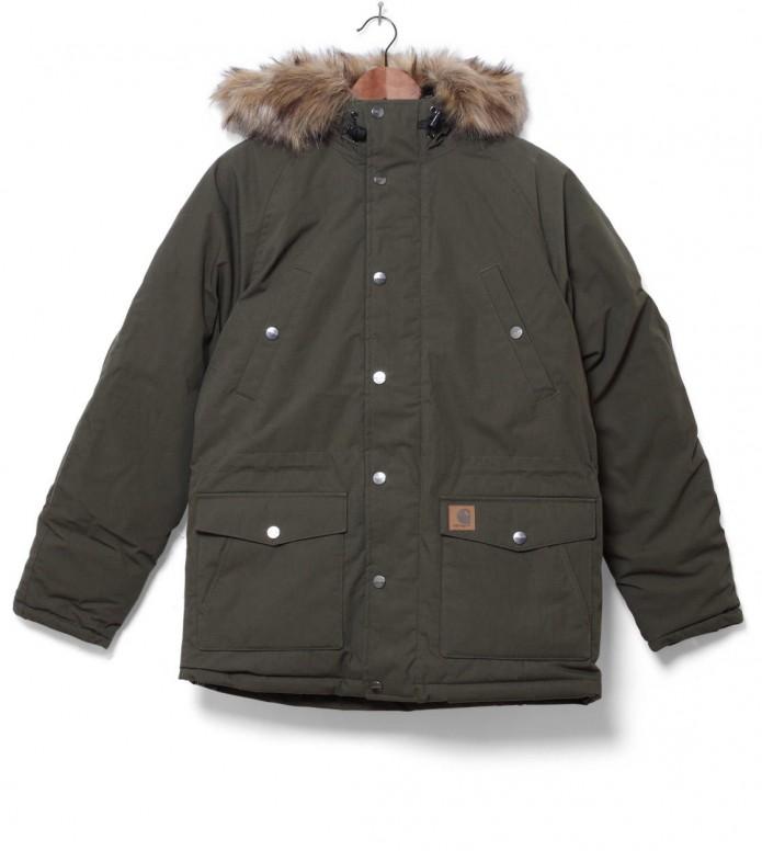 Carhartt WIP Winterjacket Trapper Parka green cypress/black L