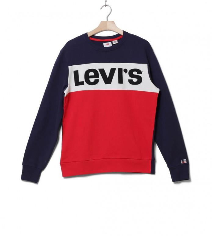 Levis Sweater Colorblock blue S