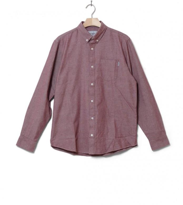 Carhartt WIP Shirt Dalton red sandy rose heavy rinsed M