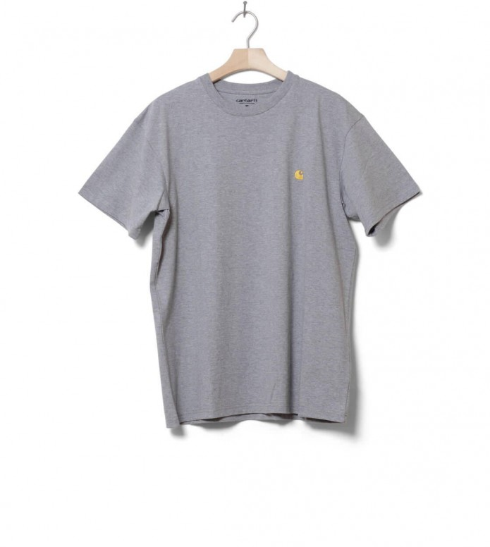Carhartt WIP T-Shirt Chase grey heather/gold