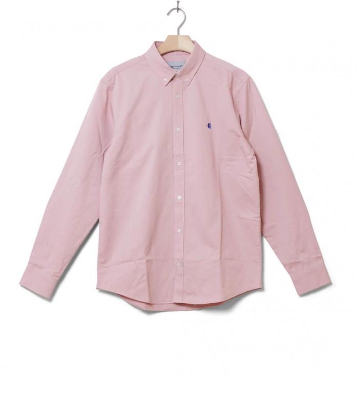 Carhartt WIP Shirt Madison pink soft rose/sapphire S