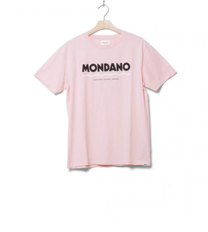 Wood Wood T-Shirt Mondano pink light M