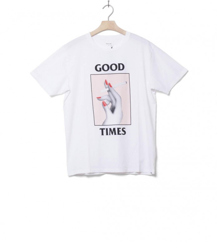 Wood Wood T-Shirt Good Times white bright M