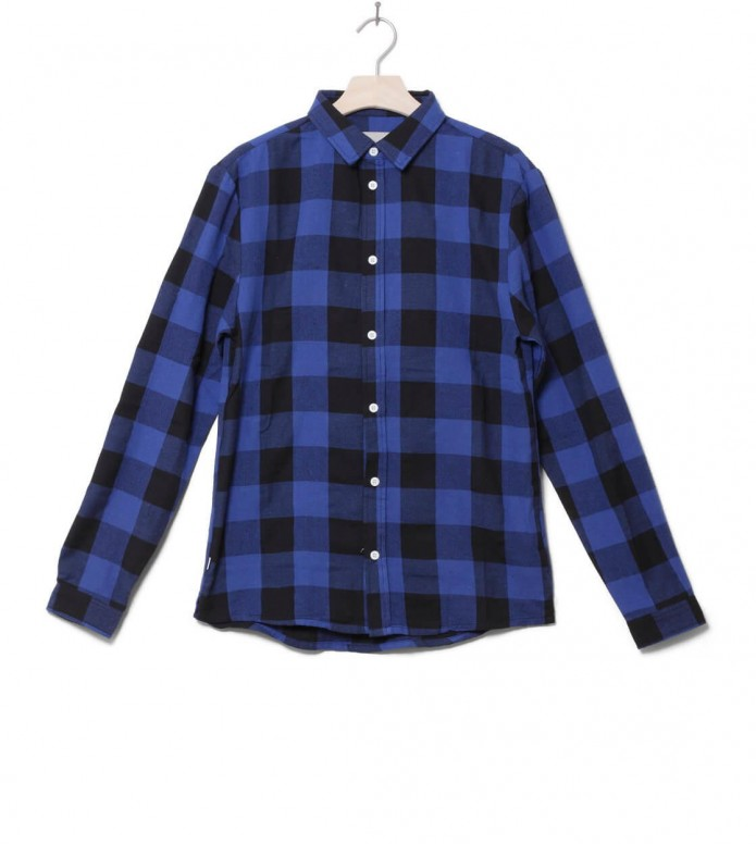 Revolution Shirt Check 3620 blue navy M