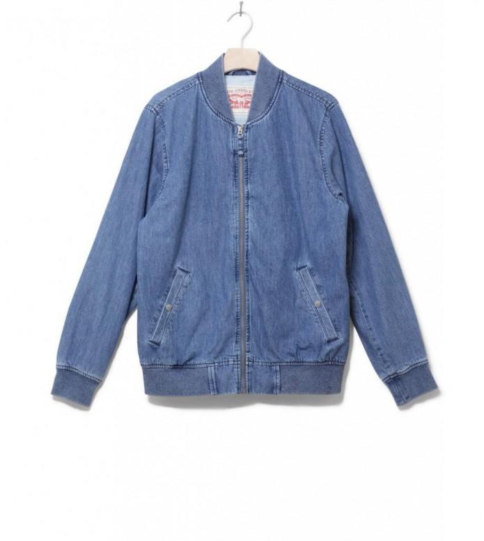 Levis Jacket Lyon Bomber blue indigo S