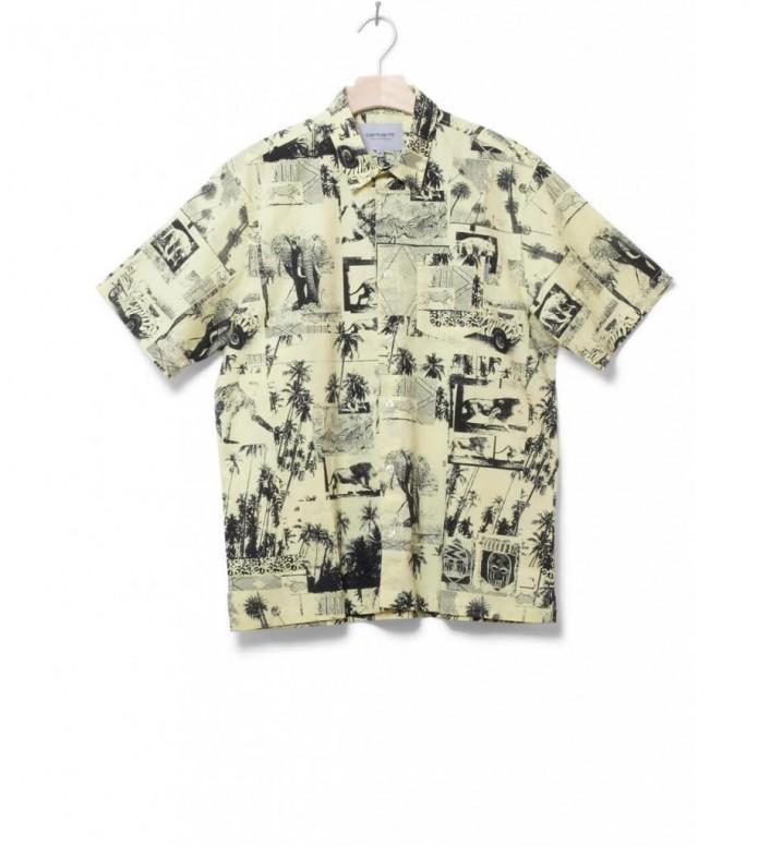 Carhartt WIP Shirt Safari yellow safari print