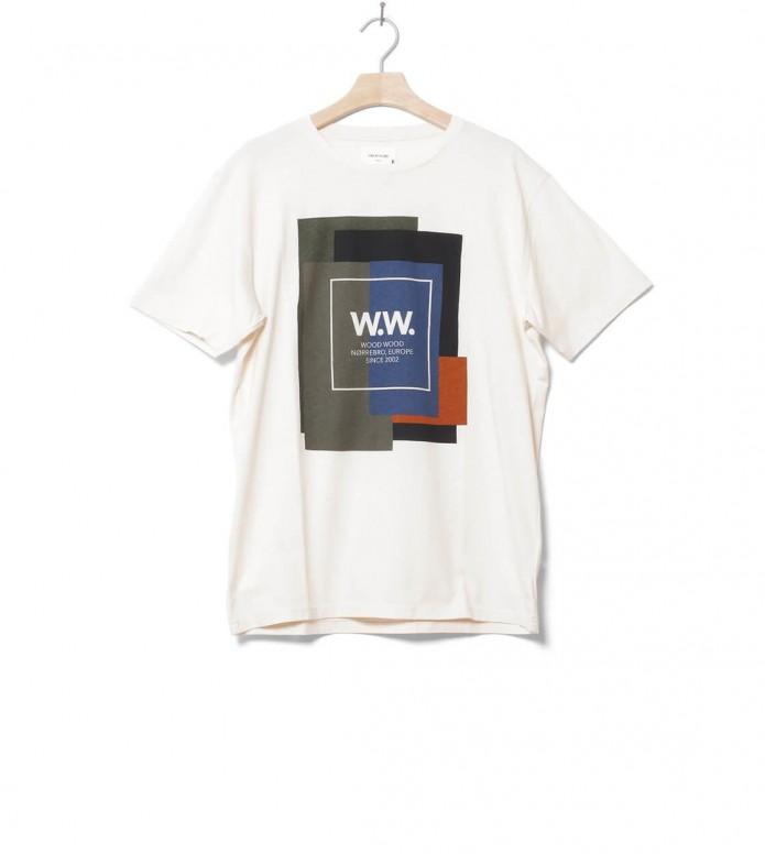 Wood Wood Wood Wood T-Shirt Quilt beige white off