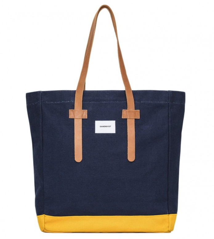 Sandqvist Bag Stig Tote blue multi/yellow