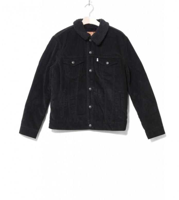 Levis Sherpa Jacket Cord Trucker black cord better S