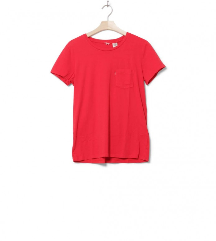 Levis W T-Shirt Perfect Crew red chinese S