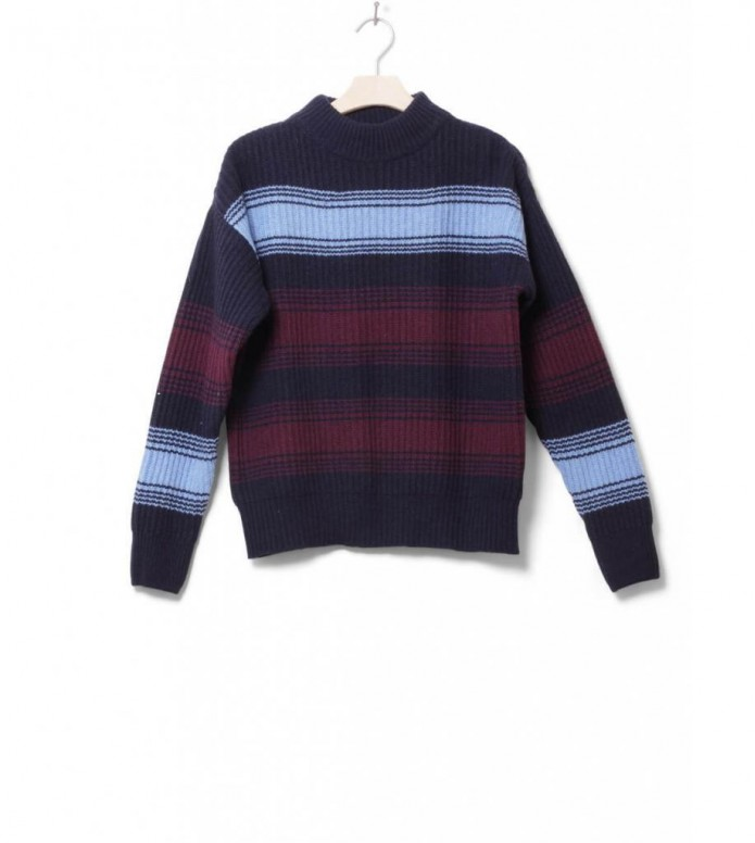 Wood Wood W Knit Pullover Felice blue navy stripe XS