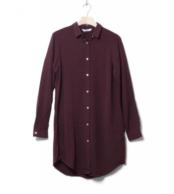 Wemoto W Shirt Cinder red burgundy