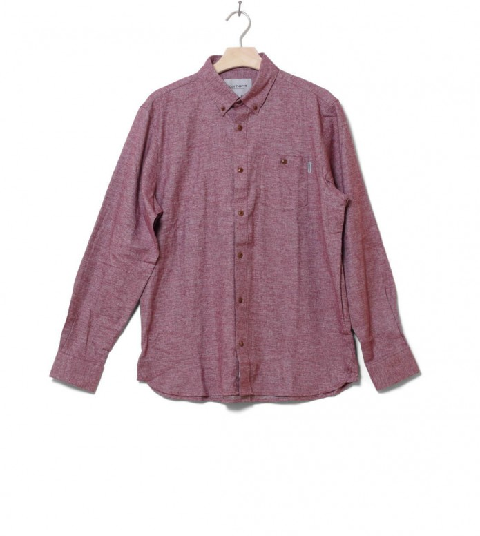 Carhartt WIP Shirt Cram red mulberry L