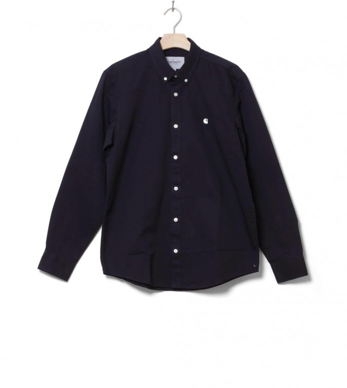 Carhartt WIP Shirt Madison blue dark navy S