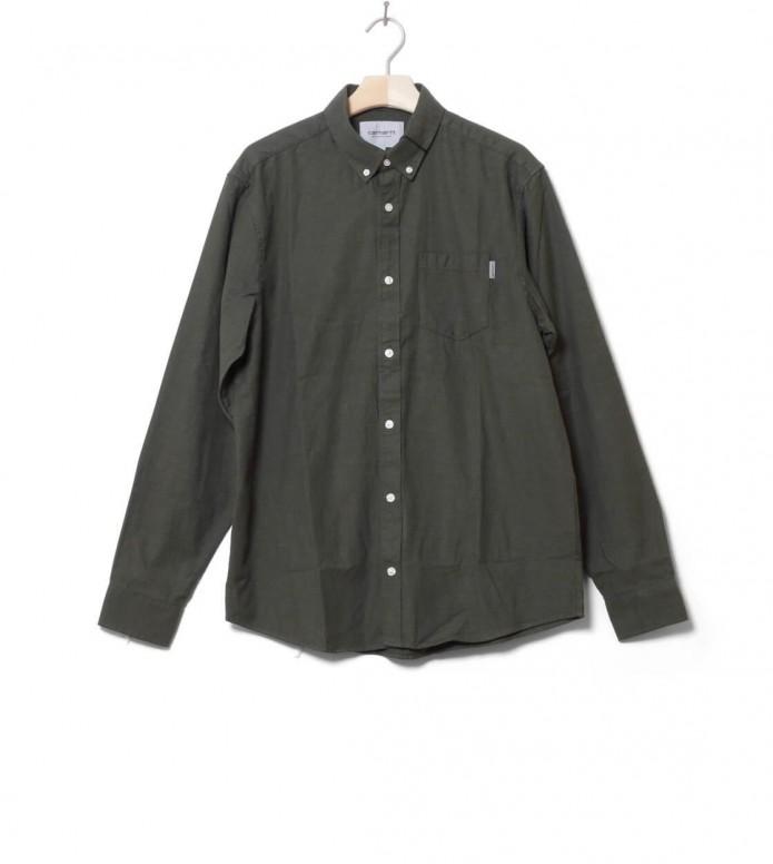 Carhartt WIP Shirt Dalton green rover heavy rinsed L