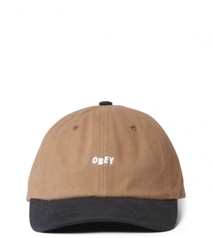 Obey Obey 6 Panel 90s Jumble Bar SB brown bone/black