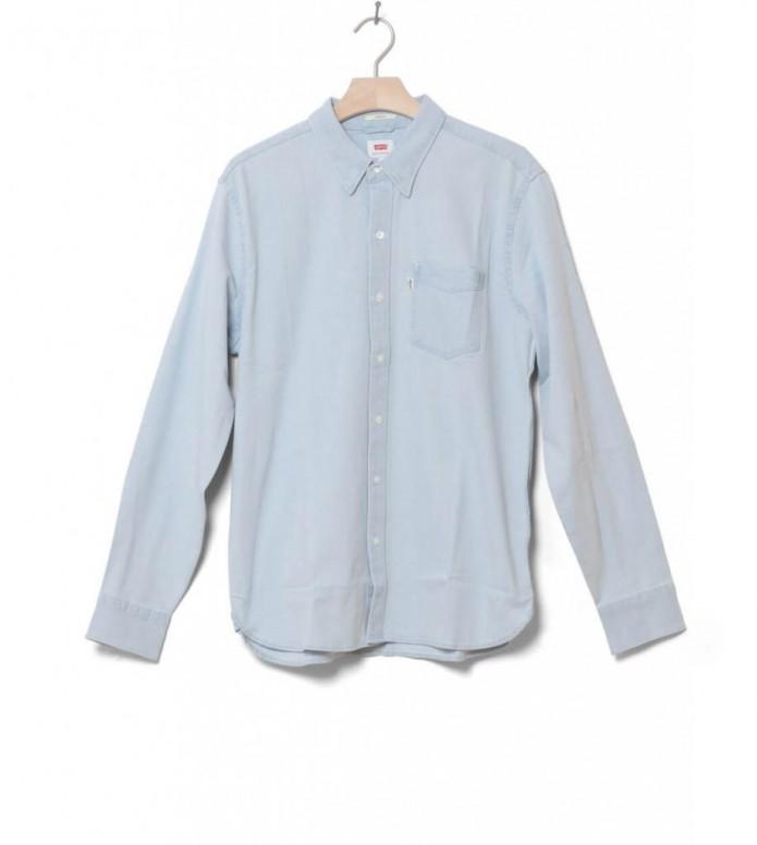 Levis Shirt Sunset 1 Pocket blue super white light