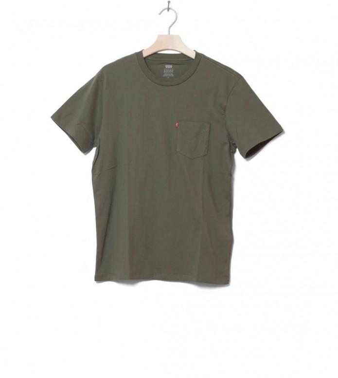 Levis T-Shirt Sunset Pocket green olive night S