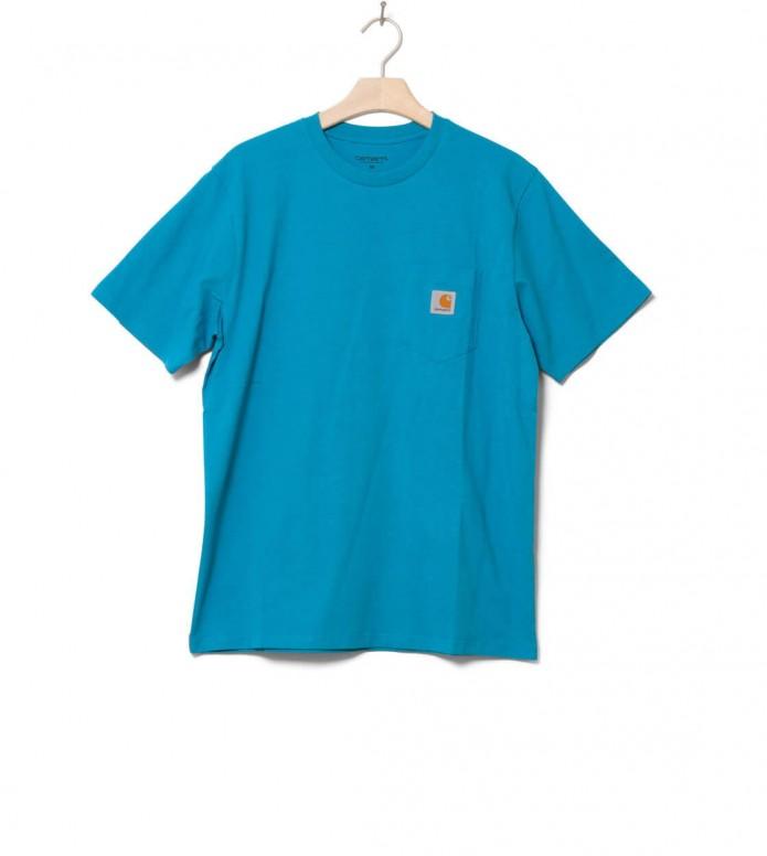 Carhartt WIP T-Shirt Pocket blue pizol M