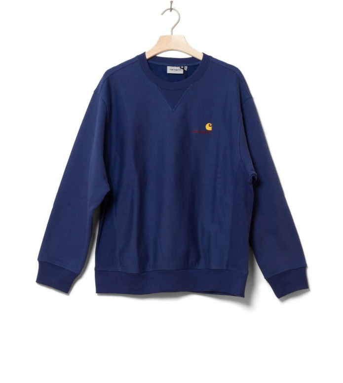 Carhartt WIP Sweater American Script blue metro L