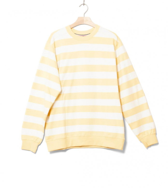 Wemoto Sweater Crew Stripe yellow tender M