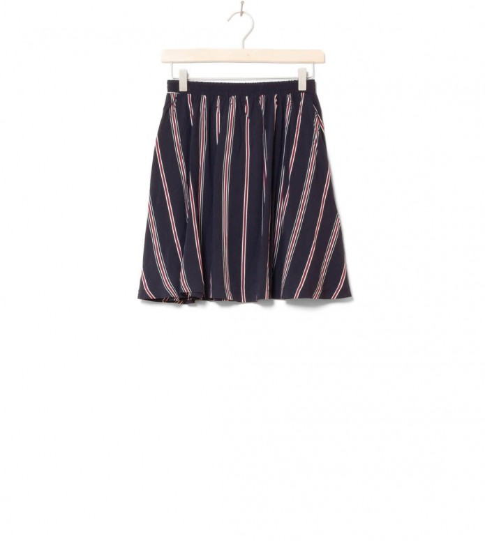 Wemoto W Skirt Rations Printed blue dark navy-burgundy S