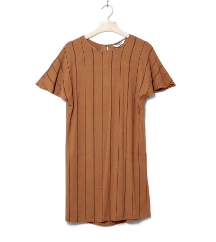 Wemoto W Dress Byron Printed brown sugar-black XS
