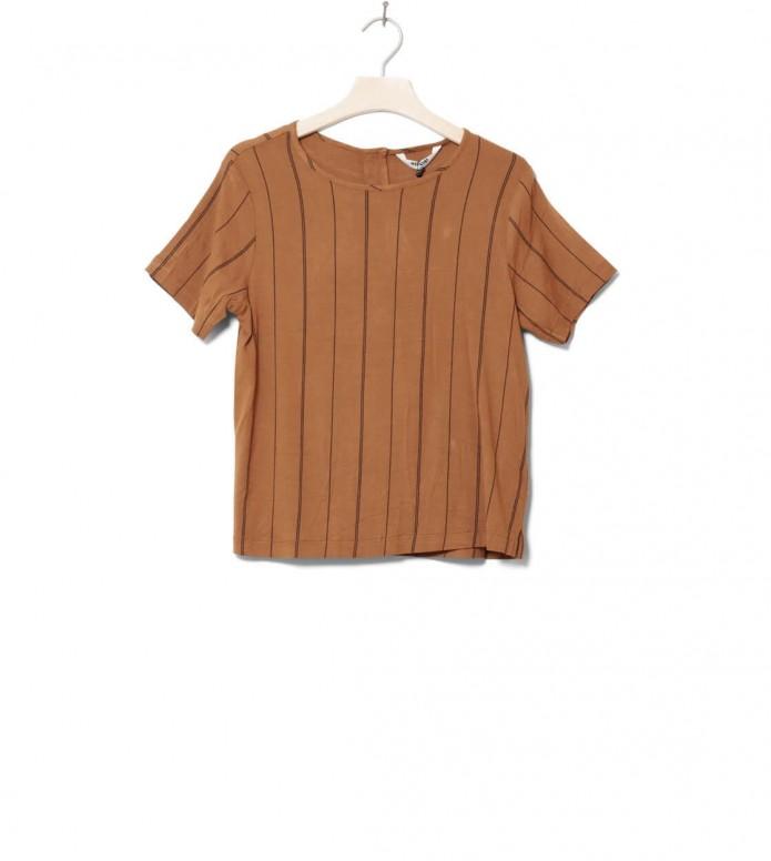 Wemoto W T-Shirt Gino Printed brown sugar-black S
