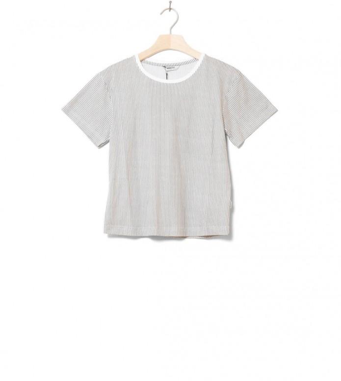 Wemoto W T-Shirt Teddy Printed white off-grey