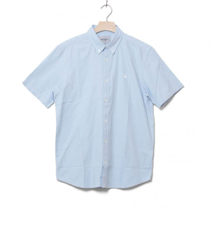Carhartt WIP Shirt Lancaster Logo blue capri M