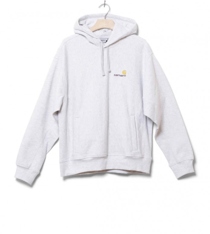 Carhartt WIP Sweater Hooded American Script grey ash heather XL