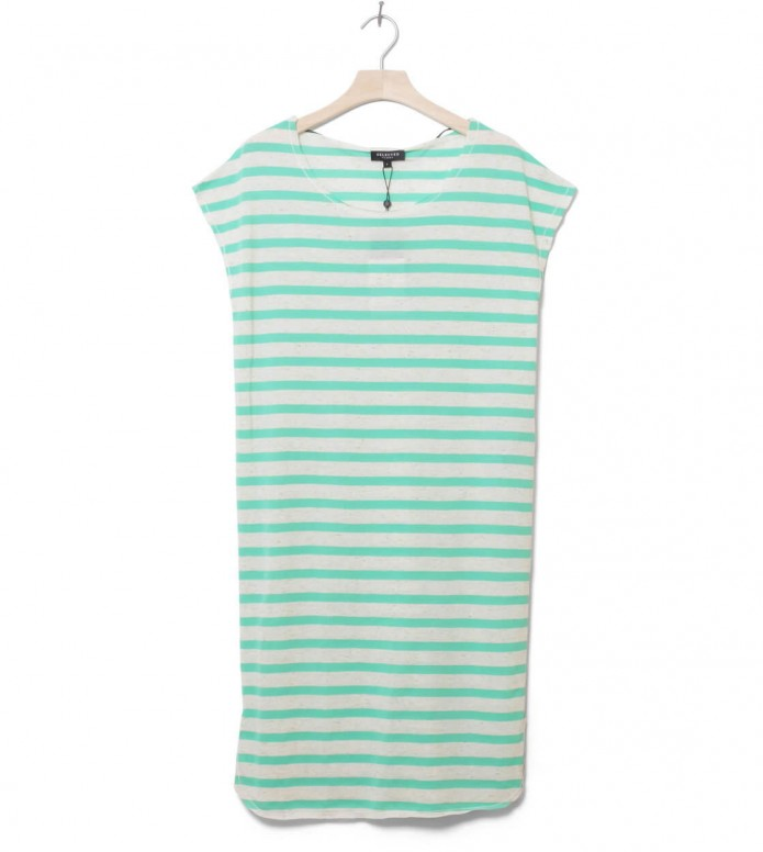 Selected Femme Dress Sfivy green gumdrop stripes XS