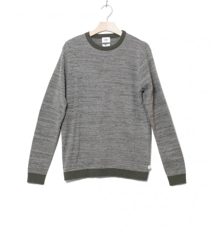 Klitmoller Knit Pullover Mik green/light grey olive S