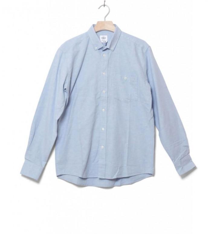 Klitmoller Shirt Benjamin blue melange M