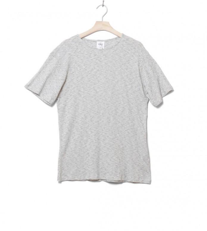 Klitmoller T-Shirt Alfred No pocket beige cream/navy XL