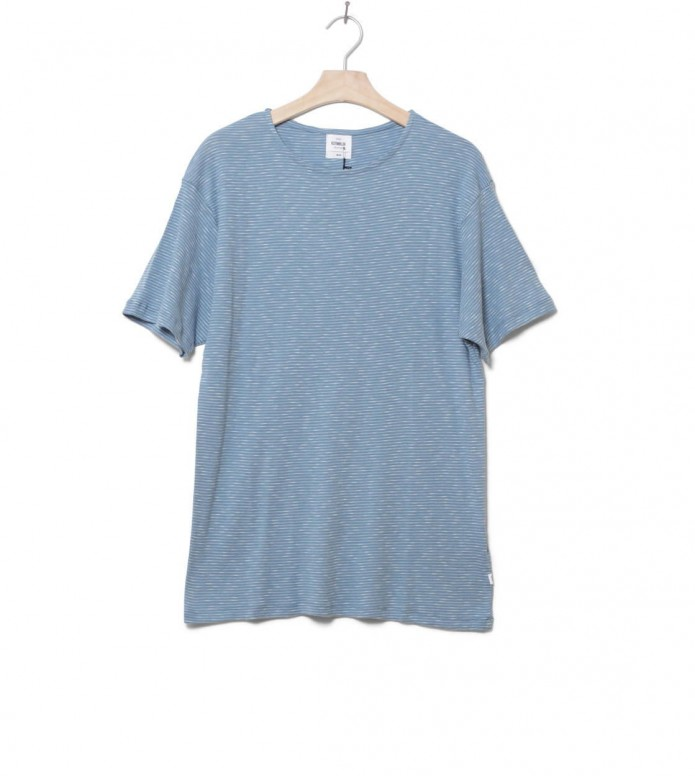 Klitmoller T-Shirt Alfred No pocket blue heaven/cream M