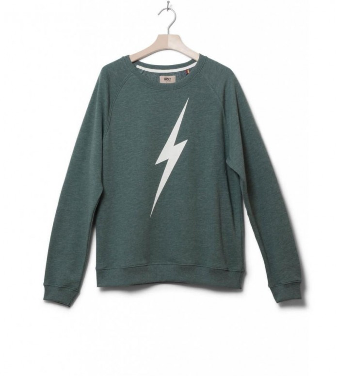 Lightning Bolt Sweater Forever Crew green sycamore L
